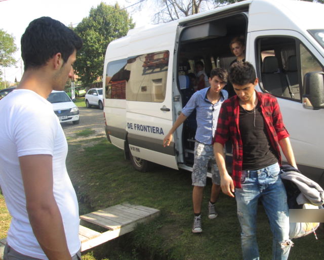 Refugees arrive at Not For Sale's Romania project.