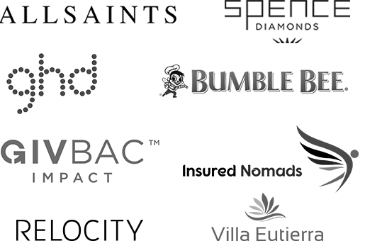 Companies who Sponsor A Project with Not For Sale - AllSaints, Spence Diamonds, ghd, Bumble Bee Tuna